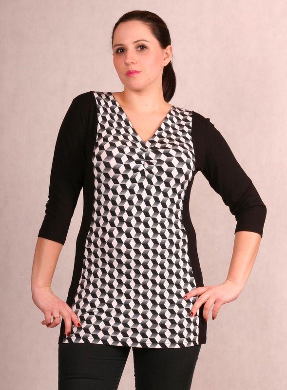 bluzki i tuniki - Odzież - bluzki, sukienki, piżamy duże rozmiary - maxi XXL - tunika, sukienki dla puszystych