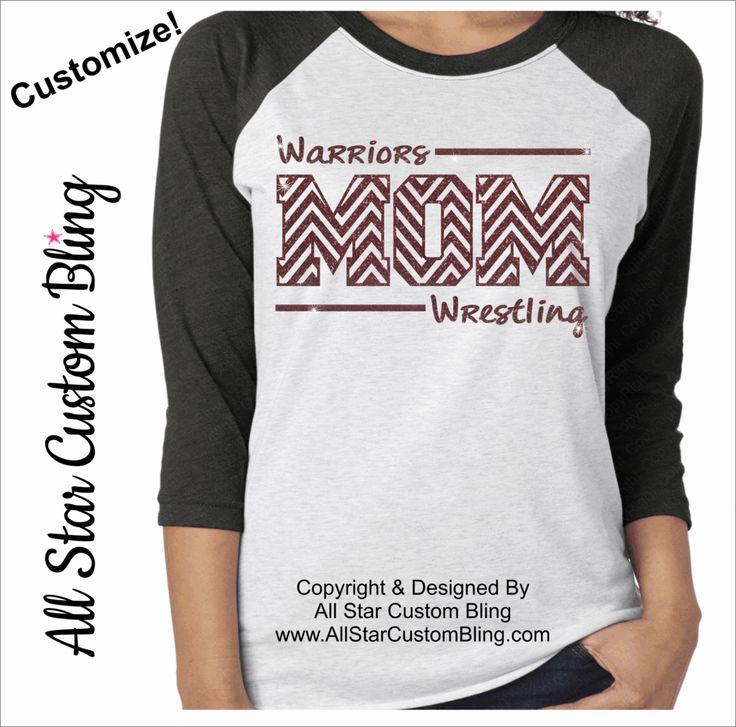Wrestling Mom Chevron Tri Blend Raglan Shirt                                                                                                                                                                                 More