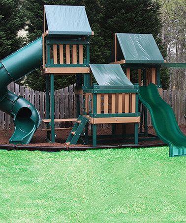 Loving this Green & Cedar Congo Monkey Play System 4 Play Set on #zulily! #zulilyfinds