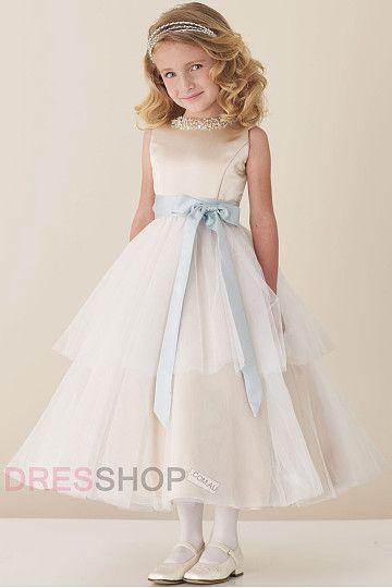 Sleeveless Empire Tea-length Beading Cute Flower Girl Dresses