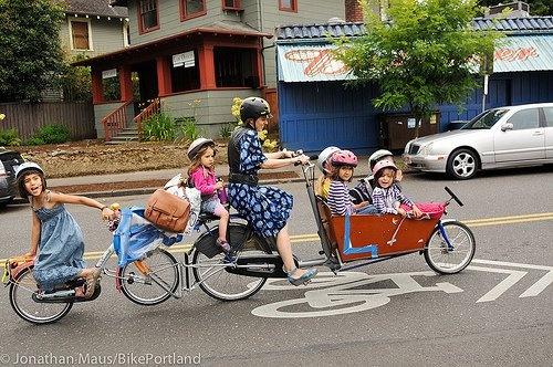 Especially for Lisa! @Lisa: Bicycles, Riding A Bike, Mothers Day, Bikes, Biker Mama, Families, Mom, 4 Kids, Portland Oregon