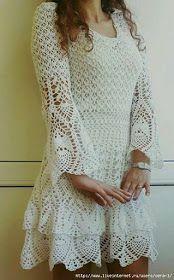Pasatiempos entre hilos y puntadas: Vestido moldes crochet