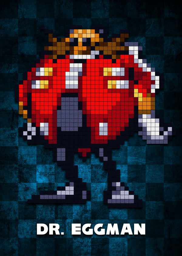 Dr Eggman V1 0 By Bgw Beegeedoubleyou Metal Posters Minecraft