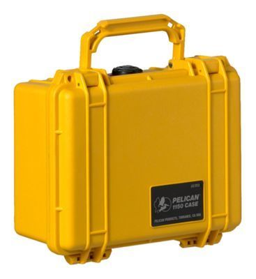 "Pelican Protector Watertight Equipment Case - 10.6 x 9.7 x 4.9"" - Yellow"