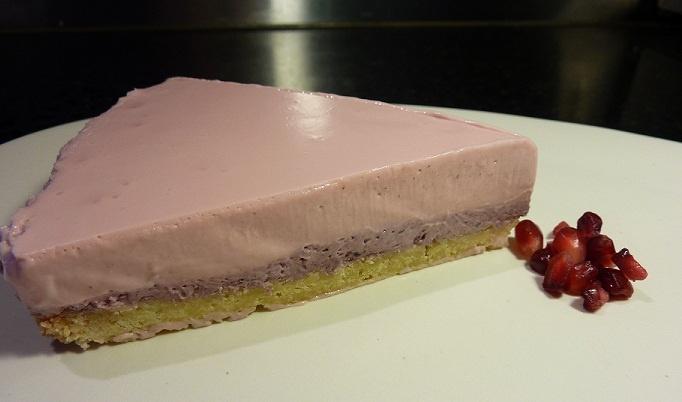 Pomegranate & Acai Cheesecake - Gluten Free, Sugar Free