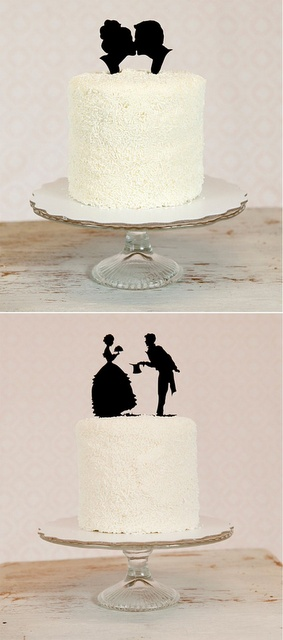 silhouette wedding cake toppers dream cake top, reminds me of cut out