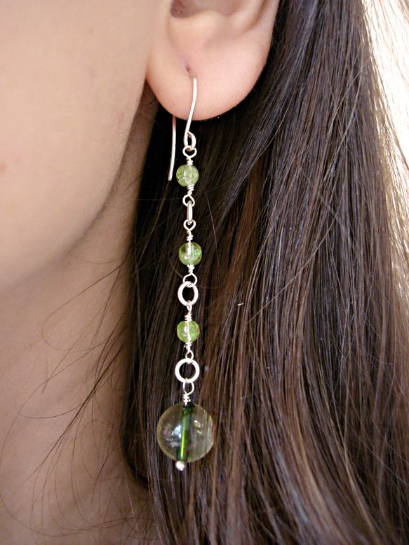 Peridot, Tourmaline Earrings, Heart Chakra Earrings by INOMINOS https://www.etsy.com/listing/175214229/peridot-tourmaline-earrings-heart-chakra?ref=shop_home_active_12