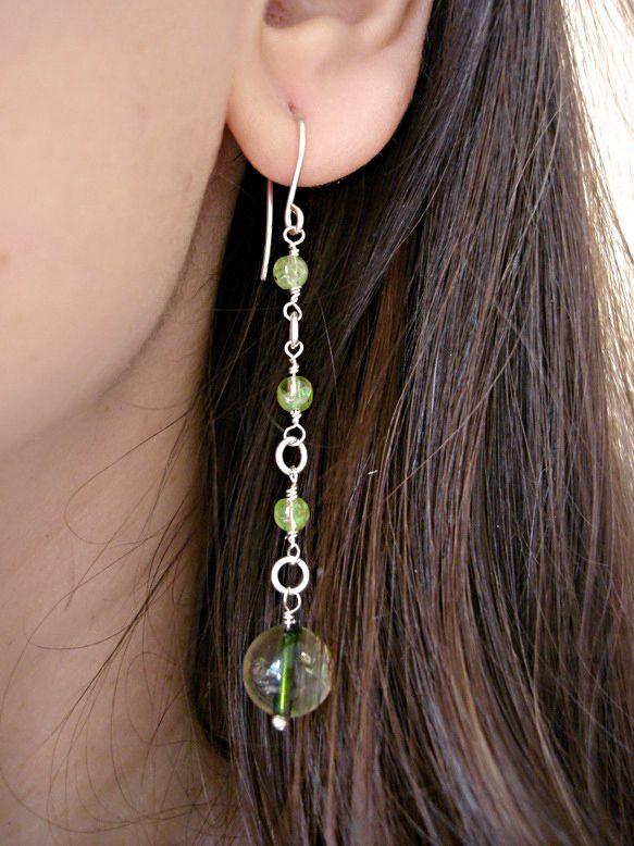 Peridot, Tourmaline Earrings, Heart Chakra Earrings by INOMINOS https://www.etsy.com/listing/175214229/peridot-tourmaline-earrings-heart-chakra?ref=shop_home_active_12