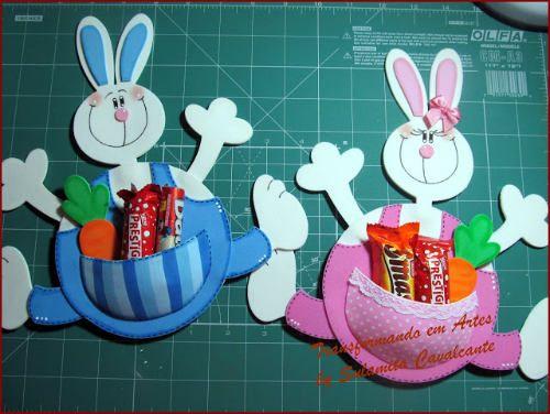 conejos de pascua dulceros pinterest molde and