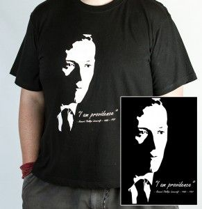 "LIMITED EDITION ""H.P. Lovecraft – I am Providence – male shirt"