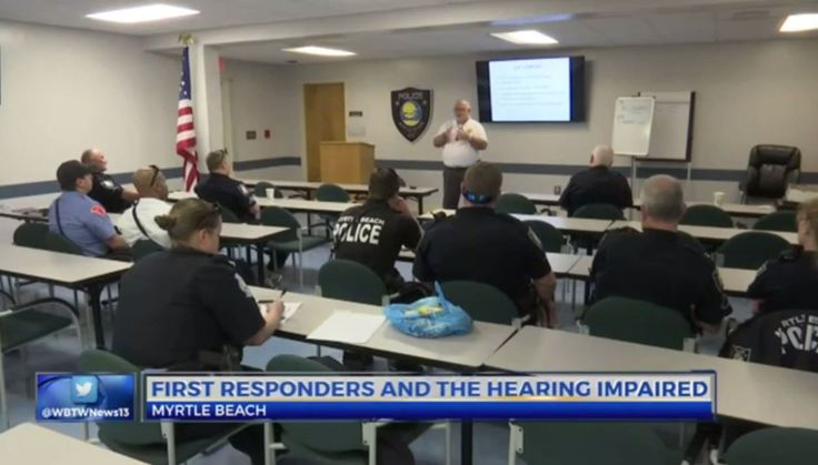 MYRTLE BEACH, SC (WBTW) – First responders in Myrtle Beach got training today on how to understand, and be understood by the hearing impaired. The Myrtle Beach Police Department and the Heari…