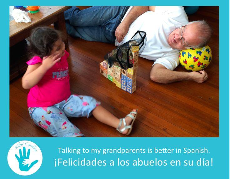 Una razón más para que nuestro hijos aprendan español: ¡sus abuelos!   One more reason for our children to learn Spanish: Their grandparents!   Happy Grandparents day! Felicidades Abuelos