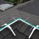Frame for installing Christmas rope lights on ridgeline