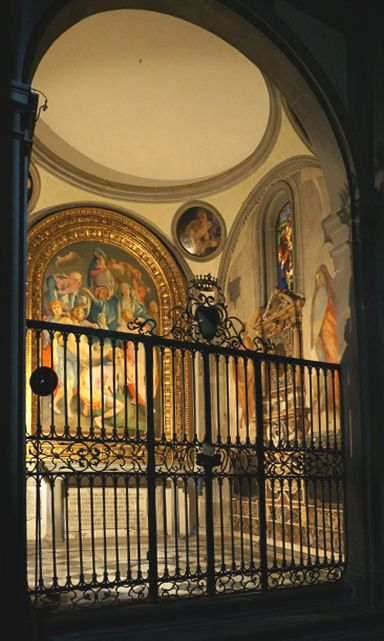 The Barbadori Chapel, later Capponi Chapel, is a chapel in the church of Santa Felicita in Florence, Italy