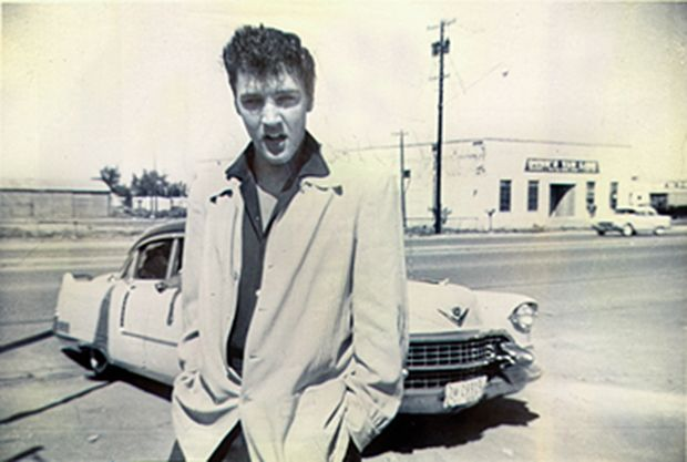 Elvis in Midland, 1955. From 1954 to 1956, Elvis played more than  100 shows in Texas. (Photo courtesy of Stanley Oberst)