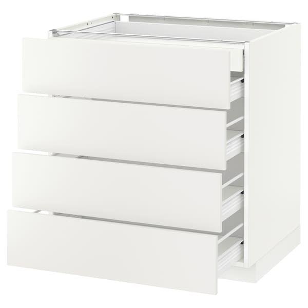 Metod Forvara Elt Bas 4faces 2tiroirs Bas 3moyens Blanc Haggeby Blanc 80x60 Cm Ikea En 2020 Ikea Tiroir Rangement