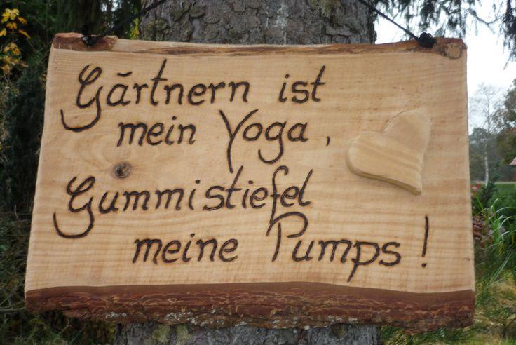 Gartenarbeit positiv betrachten... von Holz- Kreativ auf DaWanda.com
