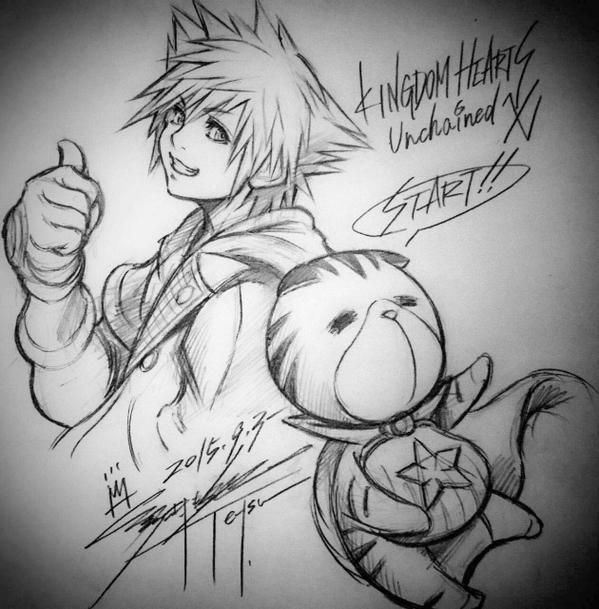 Along with services being pushed online, Tetsuya Nomura has another drawing for us! http://kh13.com/news/services-for-kingdom-hearts-unchained-%CF%87-now-online-in-japan…