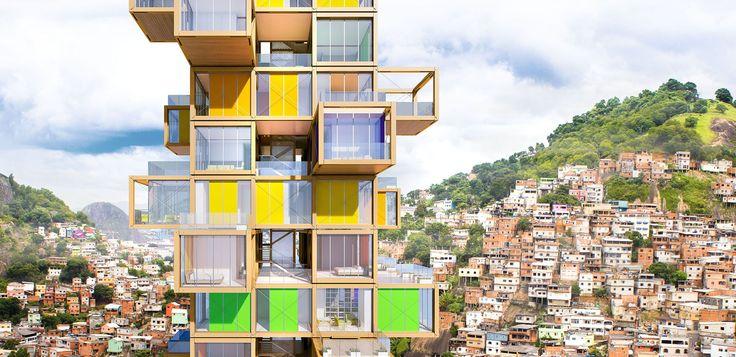 Rogers Stirk Harbour + Partners 'Tree House' design looks like a Jenga tower - Business Insider