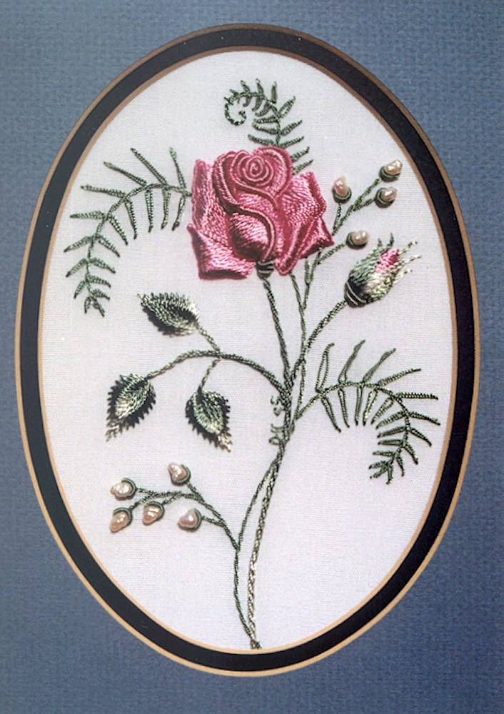 """** """"Rose For My Mother"""" Brazilian Dimensional  Embroidery Pattern  @DKDesignsandrworthey"""