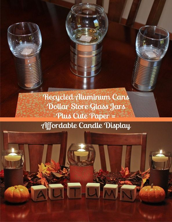 Fun candles!Fall Displays, Crafts Ideas, Floating Candles, Cute Ideas, Candle Holders, Candles Holders, Candles Display, Glitter Jars, Craft Ideas