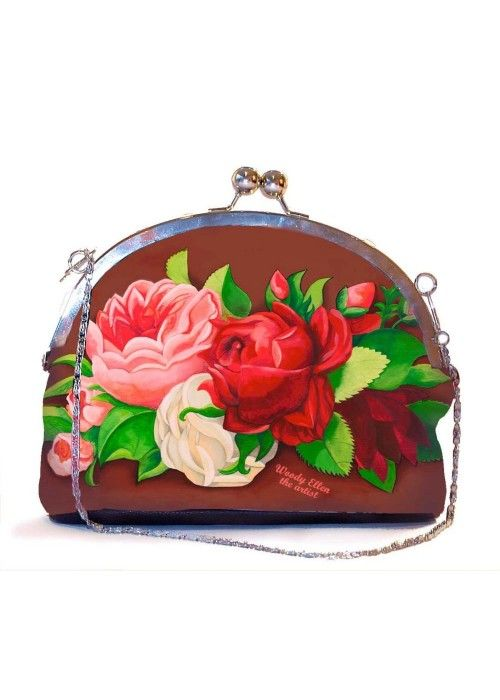 Woody Ellen Red Paris Clip Purse