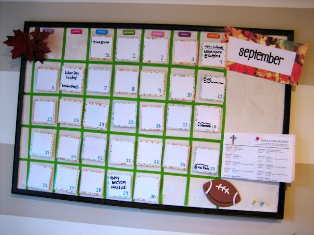 Diy Family Calendar : Diy dry erase velcro family calendar ten june projects