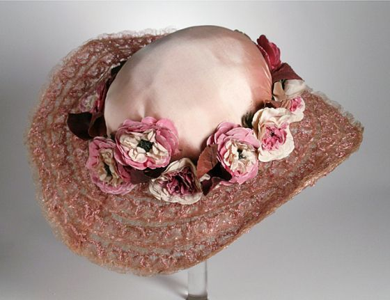 Picture Hat, Carson Pirie Scott and Company (United States, Illinois, Chicago, millinery firm): ca. 1910< horsehair braid, silk.  | LACMA Collections