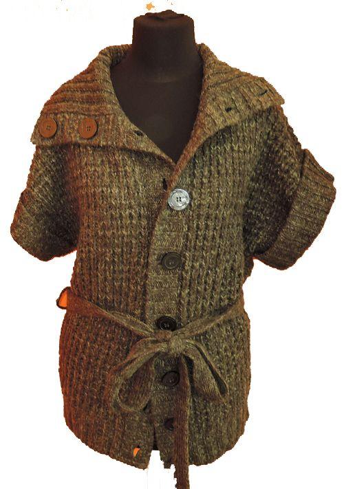 BRUMLA.CZ – Značkový dětský a dospělý second hand a outlet, použité oděvy pro děti a dospělé - Dámská zelená melírovaná svetrová vesta zn. Atmosphere