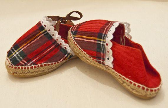 """zapatillas de esparto escocesas / """"Abuela Aba"""" - Artesanio"""