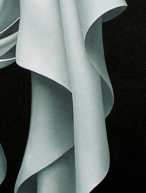 """detail of """"knot tied"""", oil on canvas"""