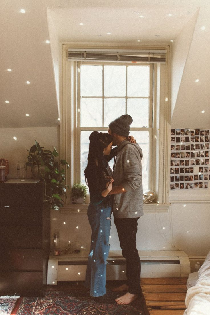 Belle + David | indie couple, indie photo ideas, indoor engagements