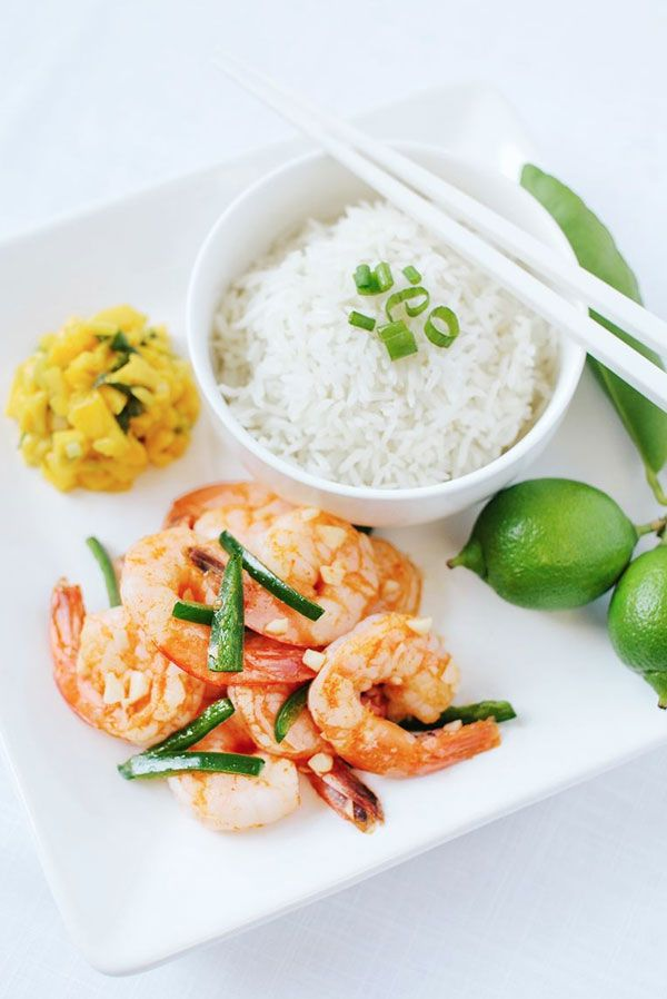 Spicy Wok Shrimp With Coconut Rice Recipe — Dishmaps