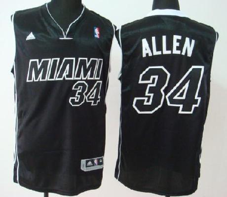 Miami Heat (MIAMI) 34 Ray Allen Black/Black Numbers Revolution 30 Swingman Basketball Jersey