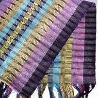 SP0011 Sukita project. Kayan Handwoven 100% cotton scarf/ tablerunner. $72
