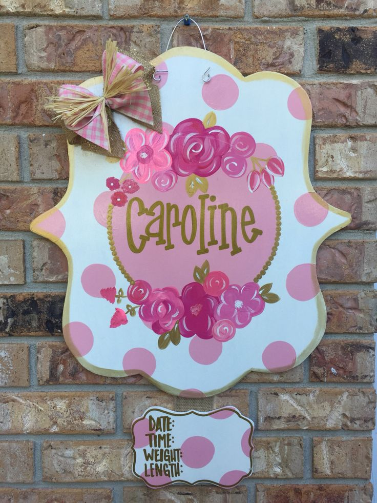 A personal favorite from my Etsy shop https://www.etsy.com/listing/469138744/polka-dots-are-pretty-too-flower-door