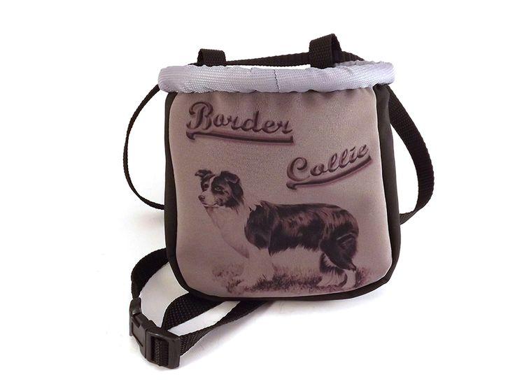 Elegáns border collie mintás jutalomfalat tartó. / Elegant dog treat bag, with border collie designs by #colorfundogs #bordercollie #treatbag