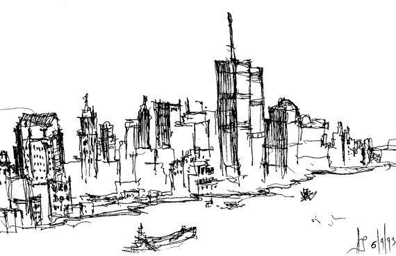 https://www.etsy.com/treasury/MTczMjYxOTB8MjcyNDg0MTAwMg/terrifically-tantalizing-tokens Remember 911  World Trade Center Sketch by j2nSKETCH on Etsy, $50.00
