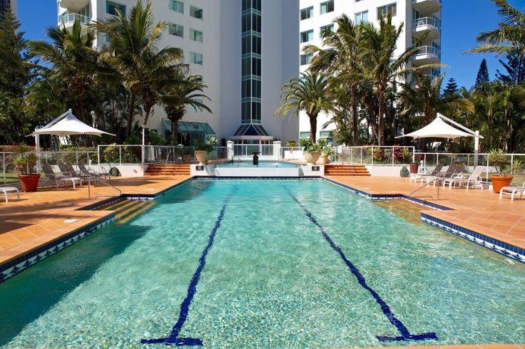 Carmel By The Sea - Outdoor pool area - Broadbeach Luxury Holiday Apartments