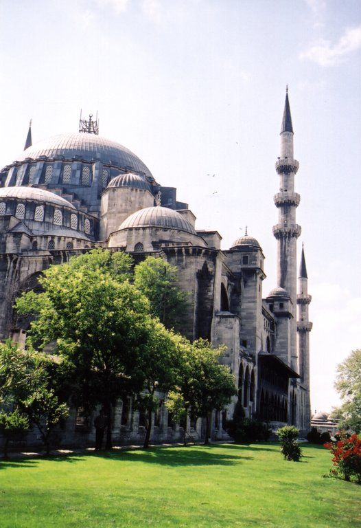 The blue mosque in front of Hagia Sofia  country : Turkey  place : Istanbul