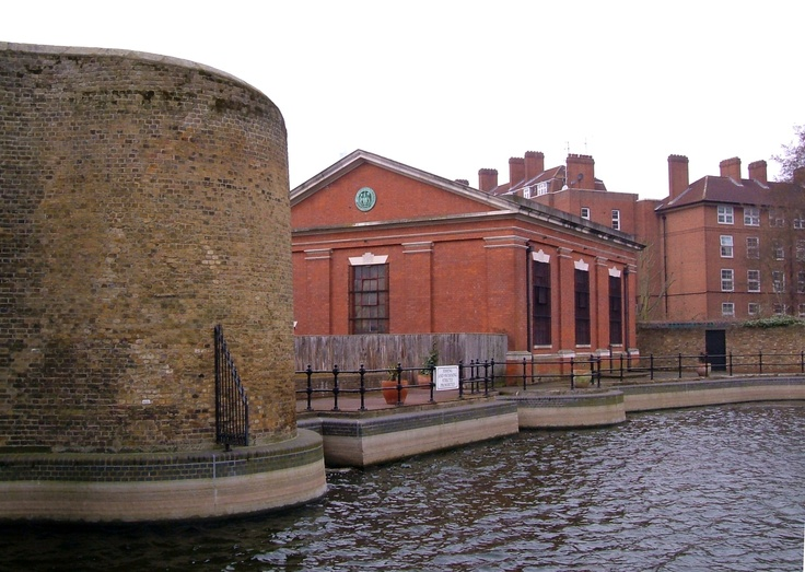 The beginning of the Hermitage Basin at the London Docks