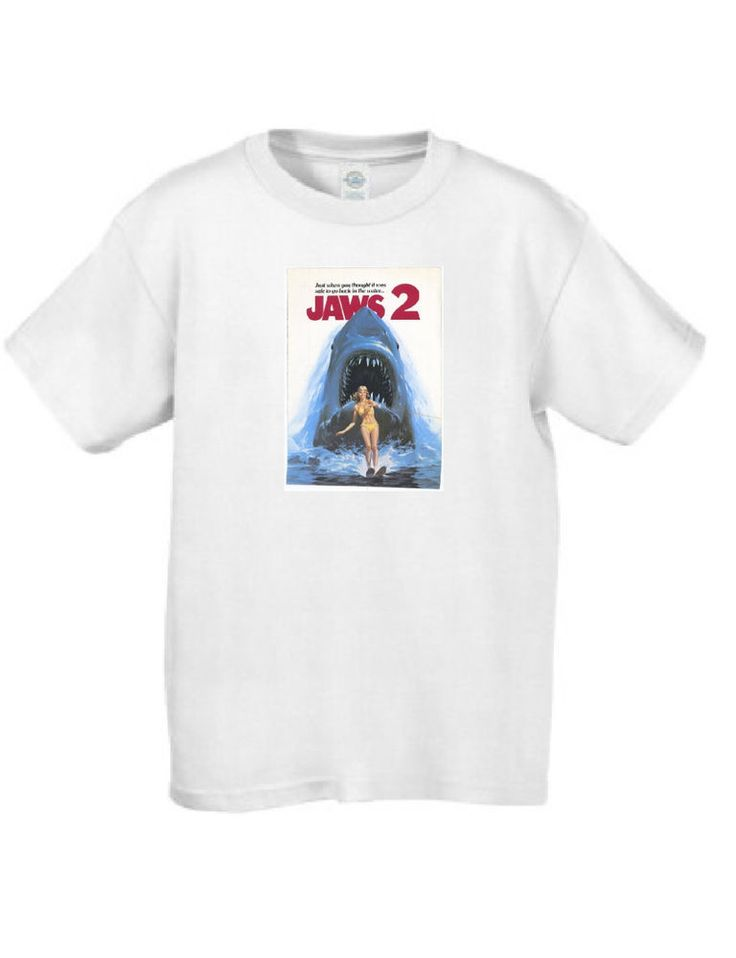 Jaws 2 Movie Poster T Shirt #MT022 #ArielCollection