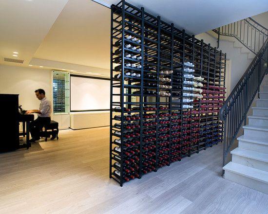 Basement Rec Room Wine Rack Wall Divider Recreational Room Pinter