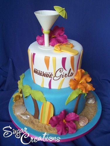 Very cool Luau cake