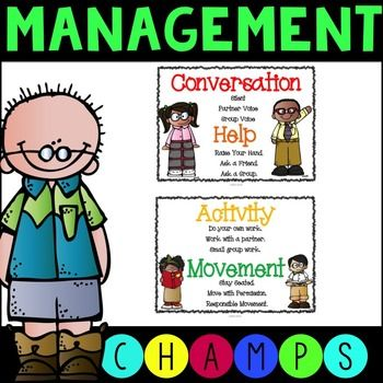 These FREE 8.5x11 posters will are a great way to implement the CHAMPS program in your classroom.The CHAMPS acronym stands for the following:C-ConversationH-HelpA-ActivityM-MovementP-ParticipationTeachers set expectations for each of these areas and these posters easily communicate the expectations to students.