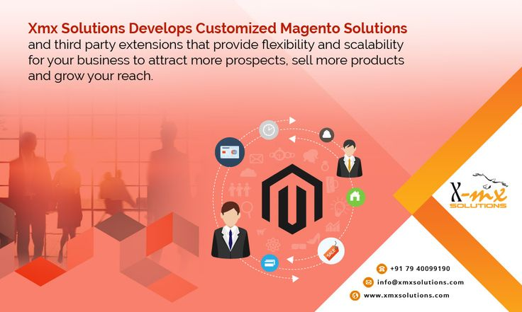 Xmx Solutions develops #Customized #Magento #Solutions and third-party #extensions that provide #flexibility and #scalability for your #business to attract more prospects, sell more #products and grow your reach.  www.xmxsolutions.com/magento-website-development/ #magentodevelopment #eCommerce #magentosolutions