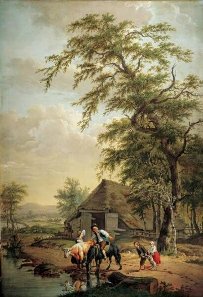 Pieter Barbiers, The Horse being watered, ca. 1790. Frans Hals Museum #franshalsmuseum #art #haarlem #horse