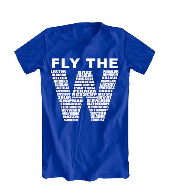 Chicago Cubs FLY THE W Cubs Win Flag Men's Sm-5X by UZmarketing