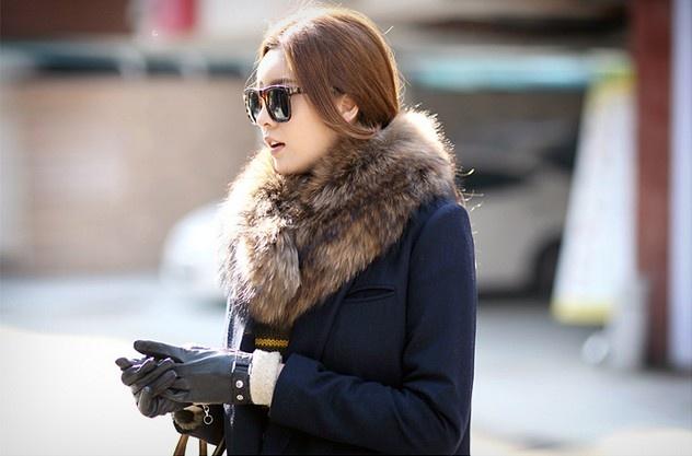 elegant collar fur, only on thehallyu.com