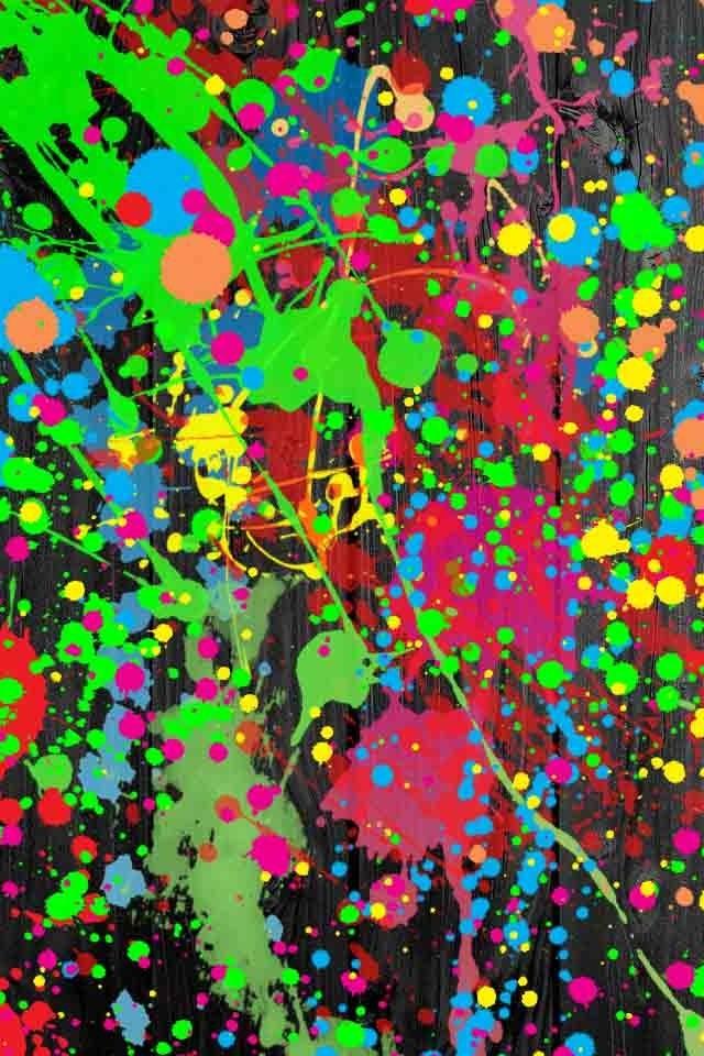 Splatter Paint Cute Wallpaper Neon